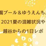 西武園プール&ゆうえんち/花火2021夏の混雑状況や越谷からの1日レポ