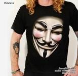 Kaos VENDETTA 3D, V for Vendetta, Anonymous