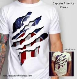 Kaos CAPTAIN America White 3D
