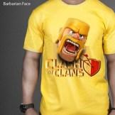 Kaos COC Barbarian Face 3D, Clash Of Clan 3D T-Shirt