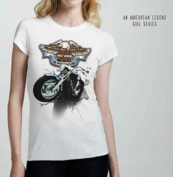Harley Davidson Female White