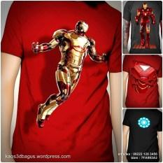 Kaos IRON MAN 3D, Kaos 3D Iron Man