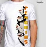 penguins, kaos gambar penguin, kaos kartun