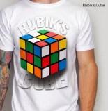 Kaos Gambar RUBIK, Rubik Cube 3D, Kaos 3 Dimensi RUBIK