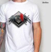 kaos dj skrillex, electronic dance music, exclusive 3d t-shirt SKRILLEX