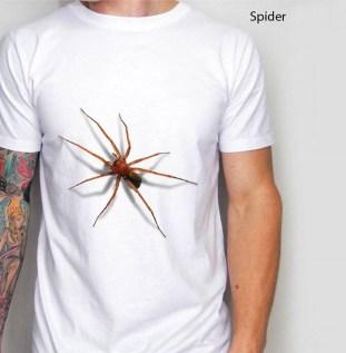 Kaos SPIDER 3D, Kaos Tarantula 3 Dimensi, Gambar Laba-Laba