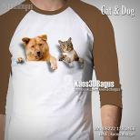 Kaos ANJING dan KUCING, Cat and Dog, Kaos3D, Kaos BINATANG