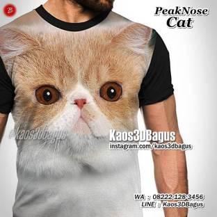 Kaos GAMBAR KUCING, Persian Cat, Peaknose Cat, Kucing Lucu, Kaos PECINTA KUCING