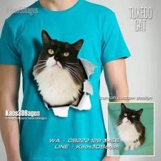 Kaos Gambar Kucing, Kaos Penyayang Kucing, Animal Lovers, Kaos3D