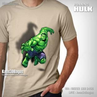 Kaos HULK, Kaos 3D RUNNING HULK, Kaos SUPERHERO