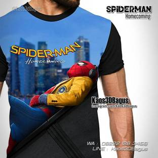 Kaos Film Spiderman Homecoming, Kaos Spiderman Terbaru, Kaos Anak, Kaos Superhero