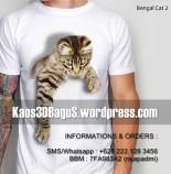 Klub Pecinta Kucing, Kaos KUCING, BENGAL CAT, Cat Lover, Kaos3d