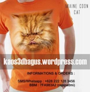 Kaos MAINE COON CAT, Kaos KUCING, Kaos BINATANG