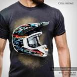 jual kaos 3d umakuka, umakuka 3d, kaos gambar helm, kaos tema motocross, trail