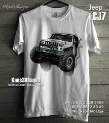 Kaos3D MOBIL JEEP, Kaos 3D CJ7 JEEP, Kaos American Jeep, Kaos JEEP OFFROAD Indonesia, Kaos 3D Umakuka, Kaos 3D Bagus