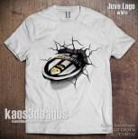 Kaos 3D Juventus Logo WHITE - Umakuka 3D