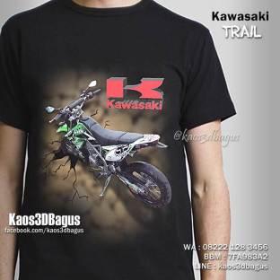 Kaos 3D Kawasaki Trail, Seragam Klub Trail, Kaos MOTOCROSS, Kaos Gambar TRAIL 3D, Kaos3D Umakuka, Kaos ENDUROCROSS Indonesia, Kaos3D Bagus