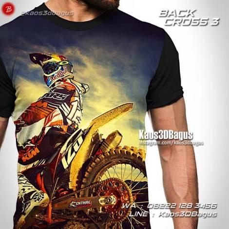 Kaos Dirt Bike, Kaos Klub Motocross Indonesia, Kaos Penggemar Motor Trail, Kaos3D