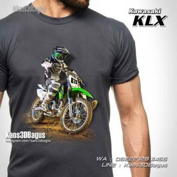 Kaos Gambar TRAIL KLX, Kaos Freestyle Motocross, Kaos Crosser, Klub Motocross
