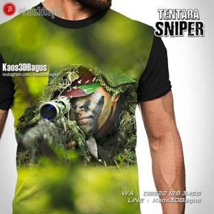 Kaos SNIPER, Kaos Pasukan Khusus, Military Tshirt, TNI AD, Denjaka, Marinir