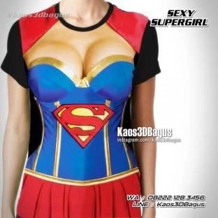 Kaos SUPERGIRL, Kostum Sexy Supergirl, Kaos3D, Kaos SUPERHERO