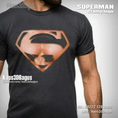 Kaos SUPERMAN, Logo Superman, Kaos3D, Superman Stamp Logo, Kaos SUPERHERO, Kaos3D