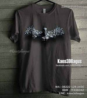 Kaos BATMAN, The Dark Knight, Batman Logo Keren, Kaos 3D