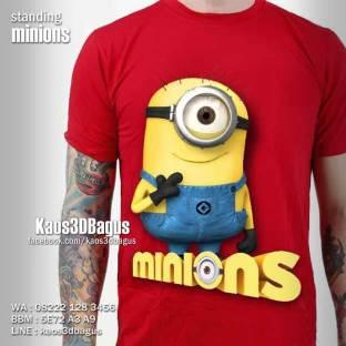 Kaos MINION, Kaos KEVIN MINIONS, Kaos Ultah Anak MINION, Kaos 3D Minions, Kaos3D, Kaos 3 Dimensi, Kaos 3D Bagus, Kaos 3D Umakuka, Despicable Me