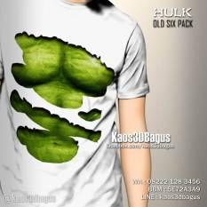 Kaos3DBagus, Kaos HULK, Six Pack Hulk, Kaos3D Robek HULK