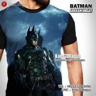 Kaos SUPERHERO, Kaos Gambar BATMAN, Batman Arkham Knight, Arkham Asylum