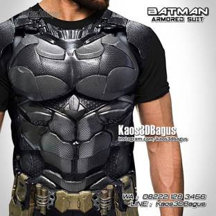 Kaos Kostum Batman, Kaos BATMAN VS SUPERMAN, Kaos 3D, Batman Armor Suit, Dawn Of Justice