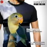Kaos BURUNG, Kaos LOVEBIRD, Kaos3D Lovebird, Kaos Gambar BURUNG, Kaos KLUB BURUNG, Komunitas Lovebird, Par Blue