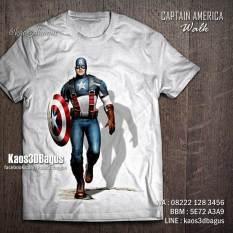 Kaos CAPTAIN AMERICA 3D, Kaos 3D Superhero, Kaos Anak Tema Captain America, Kaos 3D Bagus, Kaos 3D Umakuka, Kaos Distro Superhero