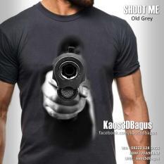 Kaos 3D, Kaos PISTOL, Kaos 3D Shoot Me, http://instagram.com/kaos3dbagus, WA : 08222 128 3456, LINE : kaos3dbagus