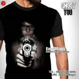 Kaos PISTOL, Kaos3D, Shoot You, Umakuka, Kaos3DBagus