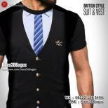 GROSIR KAOS - Kaos JAS ROMPI - Kaos3D - Suit and Vest British Style