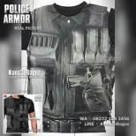 GROSIR KAOS - Kaos POLISI - SERSE - Kaos3D Police Armor - Rompi Anti Peluru - Kaos Pistol