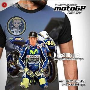 Kaos MOTOGP - Valentino Rossi - Kaos3D Balap Motor