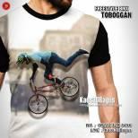 Kaos BMX Freestyle, Toboggan BMX Tricks, Kaos3D, Kaos BMX RIDER, Kaos Gambar SEPEDA