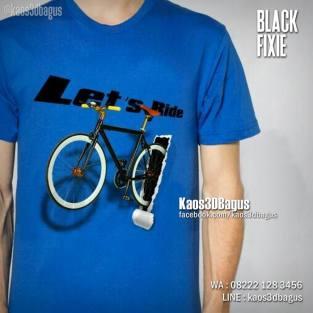 Kaos Gambar Sepeda, Fixie Bicycle, Kaos3D