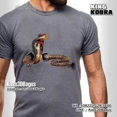 Kaos ULAR KOBRA, King Cobra, Kaos3D, Kaos GAMBAR ULAR, Reptil Indonesia
