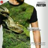 Kaos Gambar Ular Phyton, Slithering Phyton, Kaos3D, Kaos Reptil, Reptile Lover Tshirt, Reptil Mania Indonesia