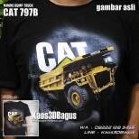 Kaos Tambang Batubara, Kaos 3D Alat Berat, Kaos Gambar Truk, Mining Dump Truck