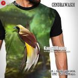 Kaos Burung Cendrawasih, Kaos Burung Papua, Kaos BURUNG, Kaos3DBagus