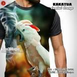 Kaos Burung Kakatua, Kaos BURUNG LANGKA, Indonesian Parrot Lovers, Kaos3D, Kaos3DBagus, Kaos PAROT, Kaos NURI