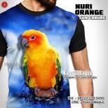 Kaos NURI ORANGE, Kaos BURUNG NURI, Sun Conure, Orange Parrot, Indonesian Parrot Lovers, Komunitas Pecinta Burung Parrot, Macaw