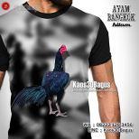 Kaos AYAM HITAM, Kaos Jago Hitam, Kaos AYAM ADUAN, Kaos3D, Gambar Ayam Bangkok