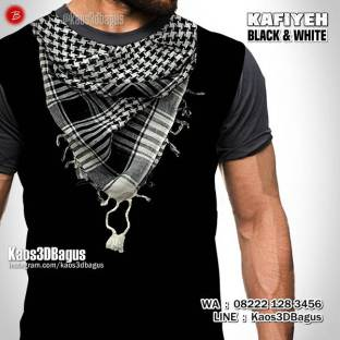 Kaos Gambar Sorban, Kaos Syal Muslim Pria, Syal Palestina, Turban, Kaos3D, Kaos Religi Islam, Kaos Intifada