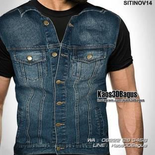 Kaos 3D Jaket Jeans, Kaos 3 Dimensi, Kaos Unik, Kaos Dugem, Kaos Clubbing