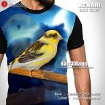 Kaos KENARI Yellow Black, Kaos3D, Kenari Mania